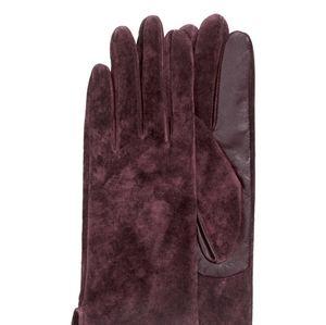 H&M Bordeaux Genuine Suede & Leather Gloves